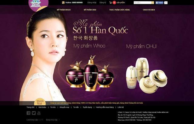 Thiết Kế Website Mỹ Phẩm, Nước Hoa, Sản Phẩm Làm Đẹp